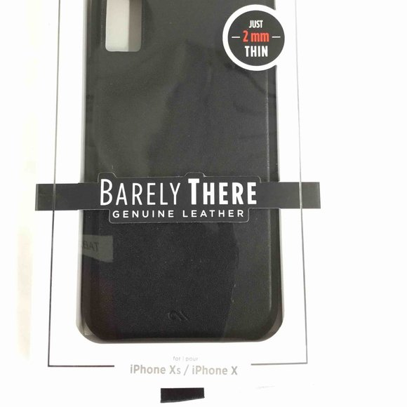 case-mate Other - 🍉NEW Barely There Leather Black iPhone Xs/ X case